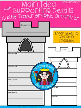 A+ Main Idea with Supporting Details: Castle Tower Graphic Organizer