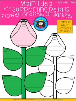 A+ Main Idea with Supporting Details: Flower Graphic Organizer II