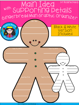 A+ Main Idea with Supporting Details: Gingerbread Man Grap