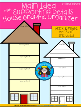 A+ Main Idea with Supporting Details: House Graphic Organizer