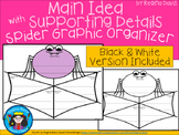 A+ Main Idea with Supporting Details: Spider Web Graphic Organizer