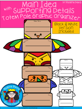 A+ Main Idea with Supporting Details: Totem Pole Organizer