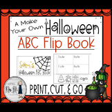 A Make Your Own Halloween ABC Flip Book {EDITABLE Covers}