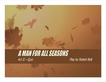 A Man For All Seasons Act II - Animated PPT Quiz