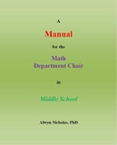 A Manual for the Math Department Chair in Middle School