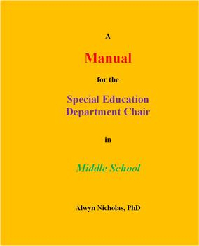 A Manual for the Special Education Department Chair in Middle School