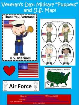 "A+  Free...Map and ""Puppets"" For Veterans Day...Thank You Veterans!"