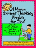 https://www.teacherspayteachers.com/Product/A-March-Critical-Thinking-FREEBIE-for-You-Youth-Art-Month-Sudoku-219738