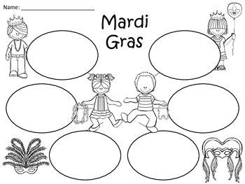 A+  Mardi Gras... Three Graphic Organizers