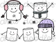 A Marshmallow World Digital Clip Art Set