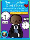 A+ Martin Luther King, Jr. Analog Clock & Digital Clock Work (Hour & Half Hour)