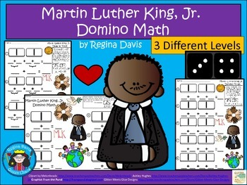 A+ Martin Luther King, Jr. Domino Math