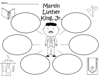 A+ Martin Luther King, Jr. Three Graphic Organizers