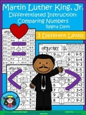 A+ Martin Luther King, Jr. Number Comparison Symbols: Greater Than, Less Than
