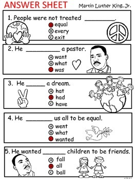 A+ Martin Luther King,Jr. Comprehension: Differentiated Guided Reading