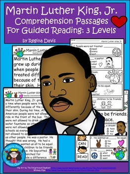 A+ Martin Luther King,Jr. Comprehension: Differentiated Gu