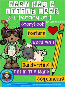 A+ Mary Had A Little Lamb: Book, Word Wall, Poster ,Handwr