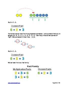 """A+ Math"" Elem & Middle School  Division Lessons, Worksheets & Answer Keys"