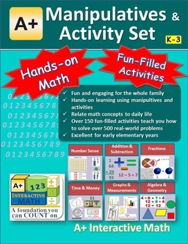 """A+ Math"" Elementary Manipulatives & Activity eBook"