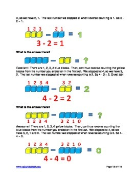 """A+ Math"" Elementary Subtraction Lessons, Worksheets & Answer Keys"