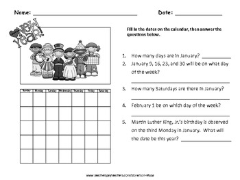 A Math FREEBIE for New Year's