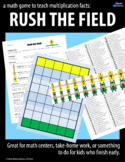 A Math Game to Teach Multiplication Facts:  RUSH THE FIELD