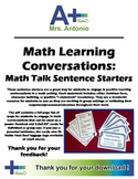 A+ Math Learning Conversations/Math Talk Sentence Starters - CC Aligned Words
