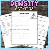 Density Hands on Activities Practice Worksheets and Assessment