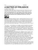A Matter of Prejudice, Short Story with Comprehension Questions