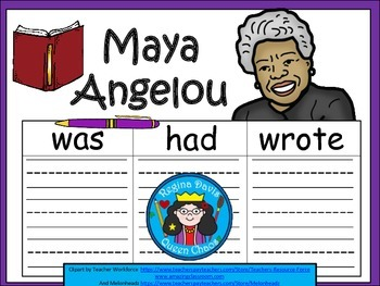 A+ Maya Angelou... Three Graphic Organizers
