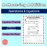 A-Maze-ing Addition Worksheet