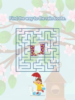 A-Maze-ing Book of Mazes (Four Seasons)