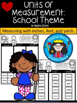 A+ Measurement Choices At School: Inches, Feet, Yards