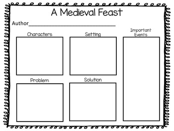 A Medieval Feast.  39 pages of Common Core Activities
