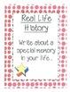 A Memoir, My Real Life History-- personal narrative writing
