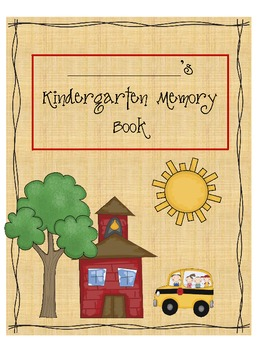 A Memory Book For Your Kindergarteners