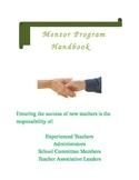 A Mentor Program Handbook