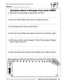 A Message from Uncle Wilber/Un mensaje del tio Gilbert