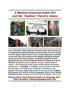 """A Mexican-American Indian Girl and Her """"Heathen"""" Parent's Values"""