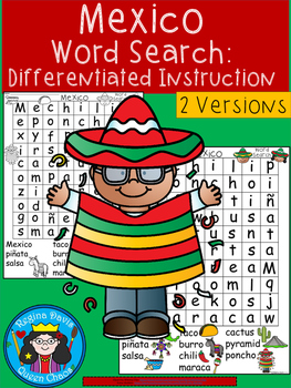 A+ Mexico Word Search: Differentiated Instruction