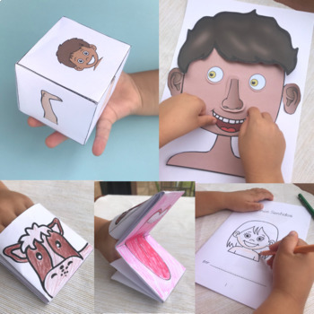 A Mi Burro Unit 1: Parts of the Body for Spanish Preschool- Early Elementary