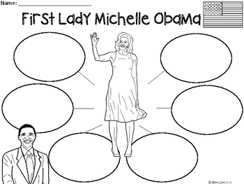 A+ Michelle Obama: First Lady of the United States ...Three Graphic Organizers