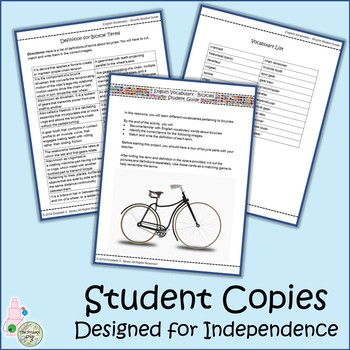 Bicycles: A Middle School Resource on Engineering Vocabulary