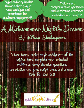 A Midsummer Night's Dream: Abridgment with Questions!
