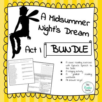 A Midsummer Night's Dream Act I Activity Bundle