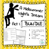 A Midsummer Night's Dream Act I Activity Bundle