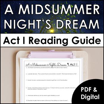 A Midsummer Night's Dream Act I Reading Guide to Enhance U