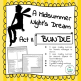 A Midsummer Night's Dream Act II Activity Bundle