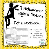 A Midsummer Night's Dream Act II Student Workbook / Study Guide
