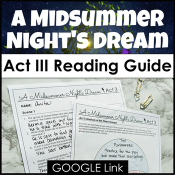 A Midsummer Night S Dream Act 3 Guide With Google Link For